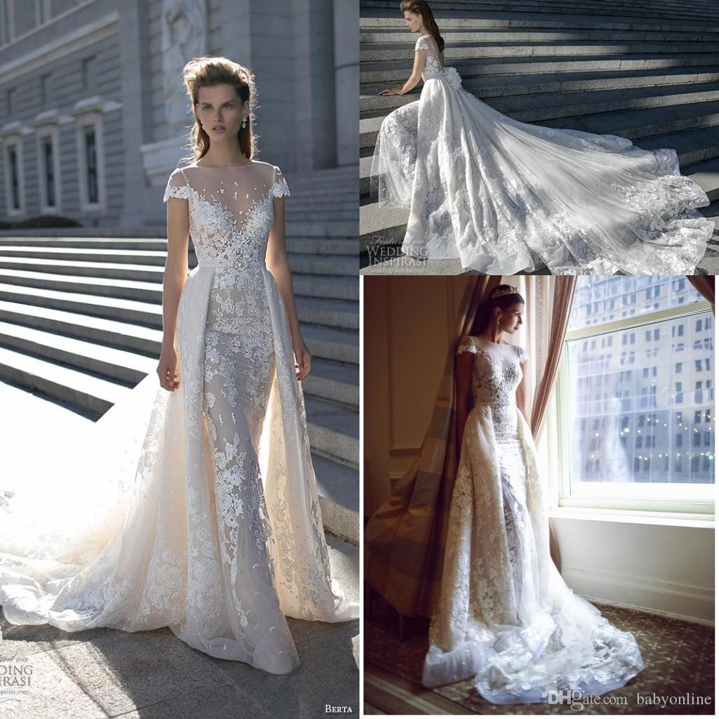 Discount 2018 Spring New Over Skirts A Line Lace Wedding Dresses ...