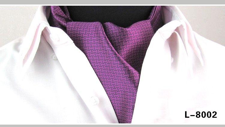 Mens Ascot Tie 캐주얼 Cravat 드레스 셔츠 슈트 넓은 넥타이 남성 액세서리 넥타이 브랜드 neckwear 남자 핑크 블루 붉은 색