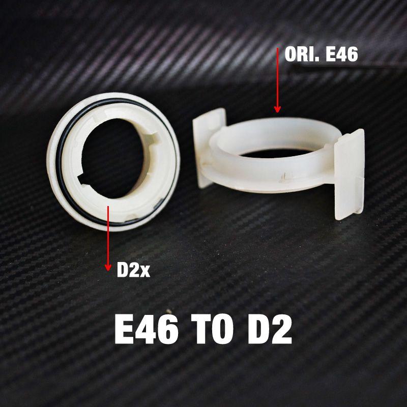 2 개 자동차 HID 제논 D2S 낮은 빔 전구 설치 소켓 어댑터 BMW E46 3 시리즈 타입 2 # 1054