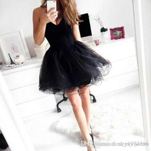 Short Back Prom Dresses Sweetheart Tulle A-Line Above Knee Length Mini Party Gowns Lace up Back Custom Made P163