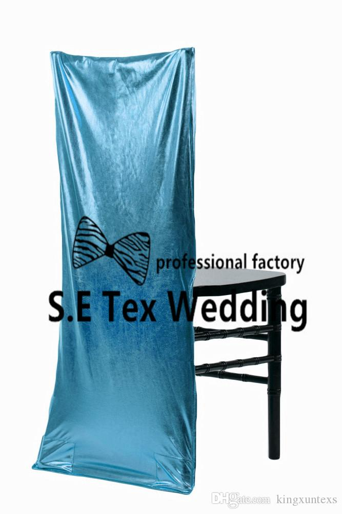 Chiavari Bronzing Coated Lycra Spandex Chair Cover For Wedding Event Decoration