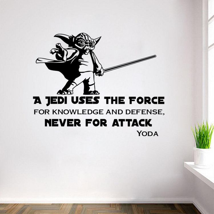 Star Wars Yoda Decals A Jedi Uses The Force Wall Sticker Decal Home Diy Decoration Decor Wall Mural Removable Room Decal Sticker Affordable Wall Decals ...  sc 1 st  DHgate.com & Star Wars Yoda Decals A Jedi Uses The Force Wall Sticker Decal Home ...