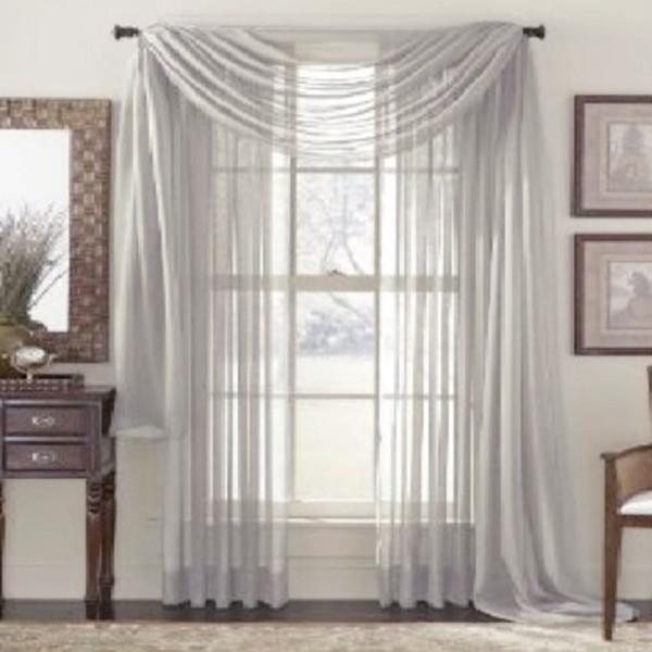Home Pure Color Sheer Curtains Door Window Voile Drape Panel Curtain Scarf Simple Design Forearm Protection Protective Wear From Gao122yi 4099