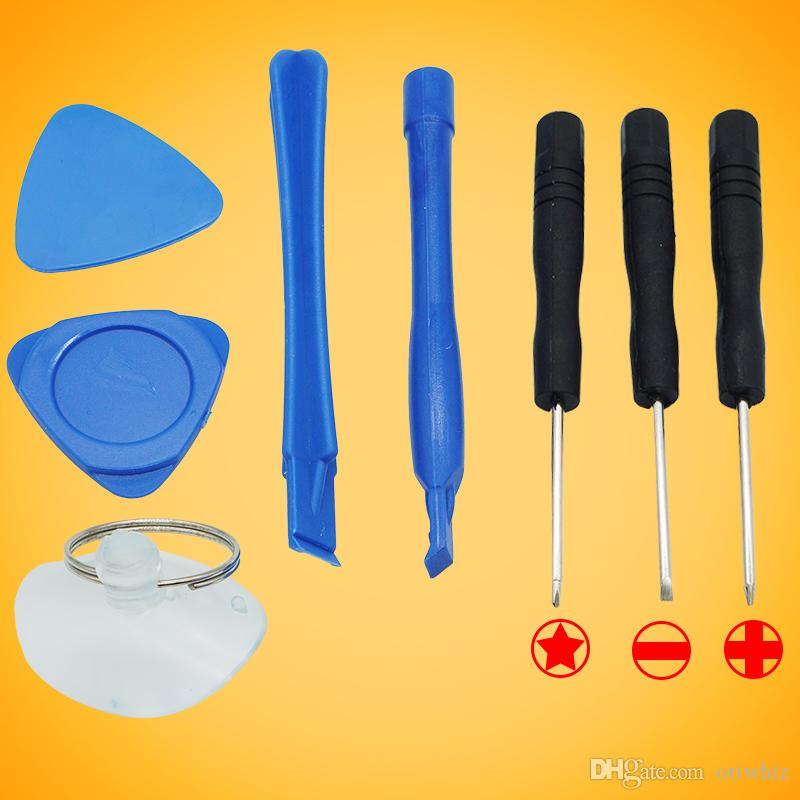 Kit de réparation pour levier 8 en 1 9 en 1 Outils d'ouverture avec 5 Point Star Pentalobe Tournevis Outil de remplacement pour tournevis pour iPhone