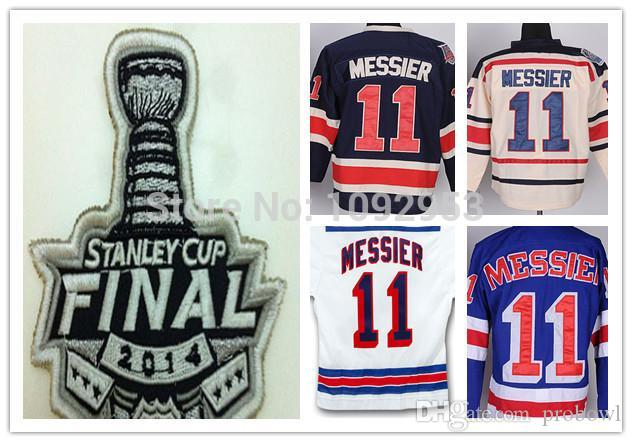 more photos af6b7 3c57d Best Quality New York Rangers #11 Mark Messier jersey Blue White 2014  stanley cup Rangers Jersey Mark Messier Stitched Cheap