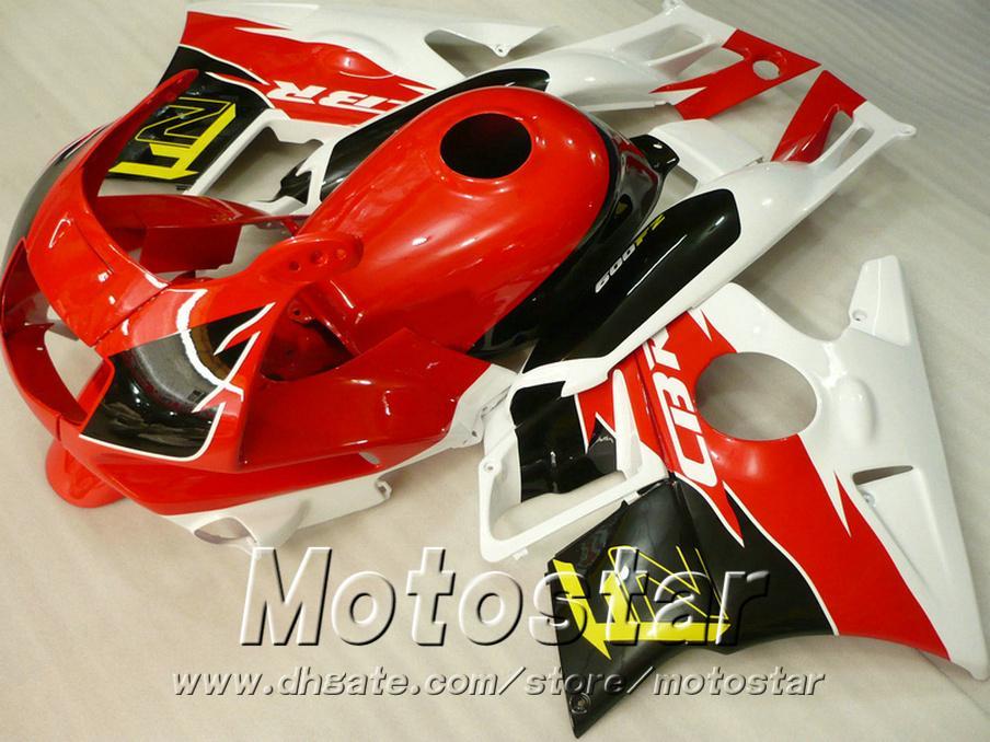 Motorcycle fairings for HONDA CBR 600 1991 1992 1993 1994 F2 CBR600 91 - 94 red black white plastic fairing kit RP11