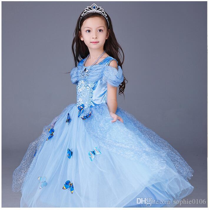 45f88181df47b 3) S il vous plaît choisir une bonne taille en fonction de la taille de  l image. Filles Cendrillon Robe Bébé Princesse ...