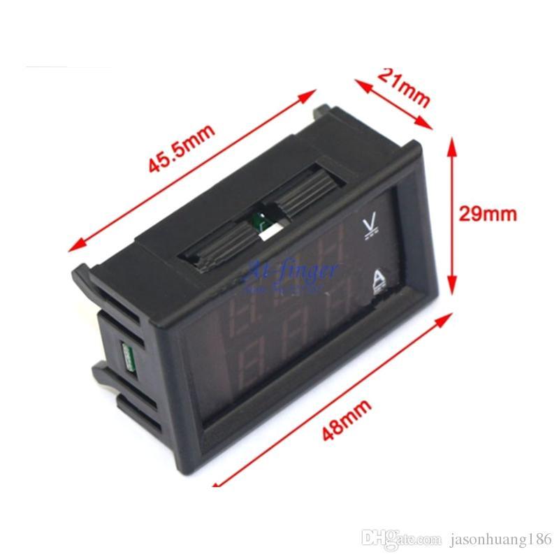 DC 0-100V / 500AのデジタルAMP /電圧メーターDC 0-100V / 500Aの2色表示電流計電流計電流計