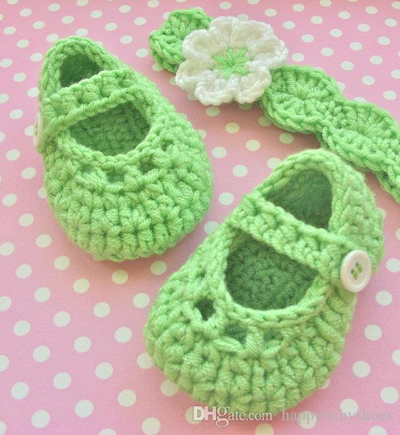 Crochet baby snow booties first walker shoes Crochet Flower Headband Shoes Cute Baby Shoes 0 to 12 Months 0-12M