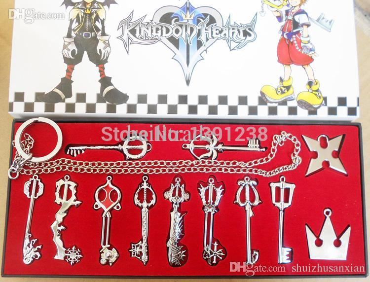 Best quality wholesale kingdom hearts ii key blade necklace best quality wholesale kingdom hearts ii key blade necklace pendantkeybladekeychain different style silver key blade sora keyblade pendant at cheap price aloadofball Image collections