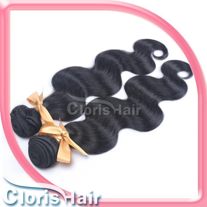 Corps brésilien Human Wave cheveux Extensions Cheap Raw Remi Wavy Weave non transformés Double Drawn Longueur Mixte Trame Bundles