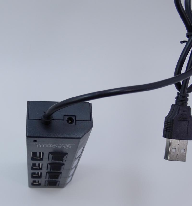 100x USB 2.0 HUB Power 4 puertos adaptador de socket con LED Light UP Concentrator Switch para laptop mouse teclado cargador teléfono tablet pc 9-SR