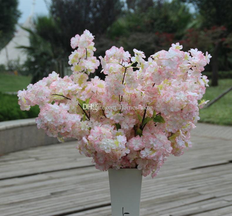 "Four Branches Each Bouquet Simulation Cherry Blossom 1 m39"" Long Wedding Arch Decorative Flower Home Living room Decor"