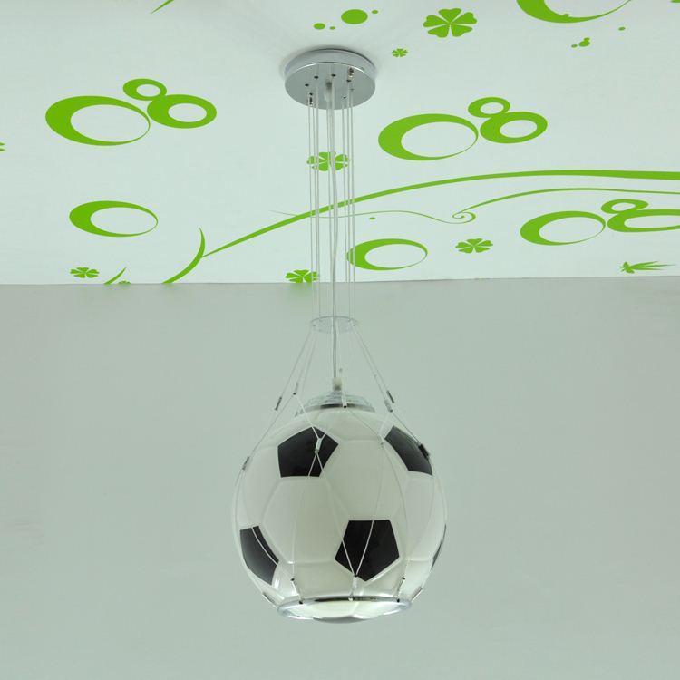 Soccer Ball Children Room Glass Light Pendnat Lamps Football Kid S