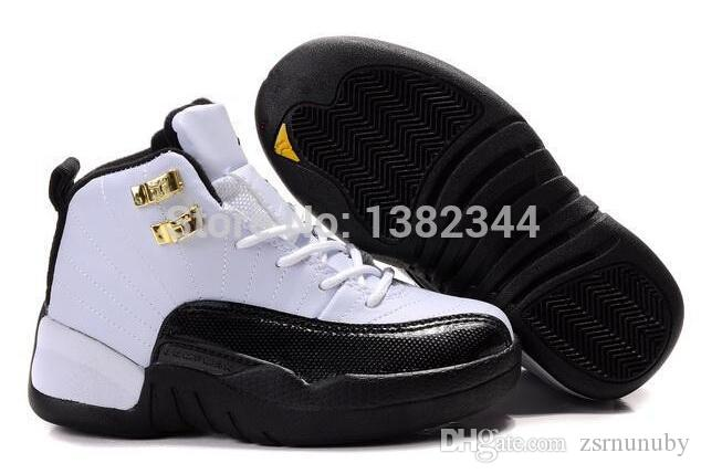 Retro Taxi 12 Kids J12 Basketball Shoes Kids Basketball Shoes Retros 12  Olympic Gold Boys Sneakers Youth Sports Shoes Clearance Running Shoes Pink  Running ...