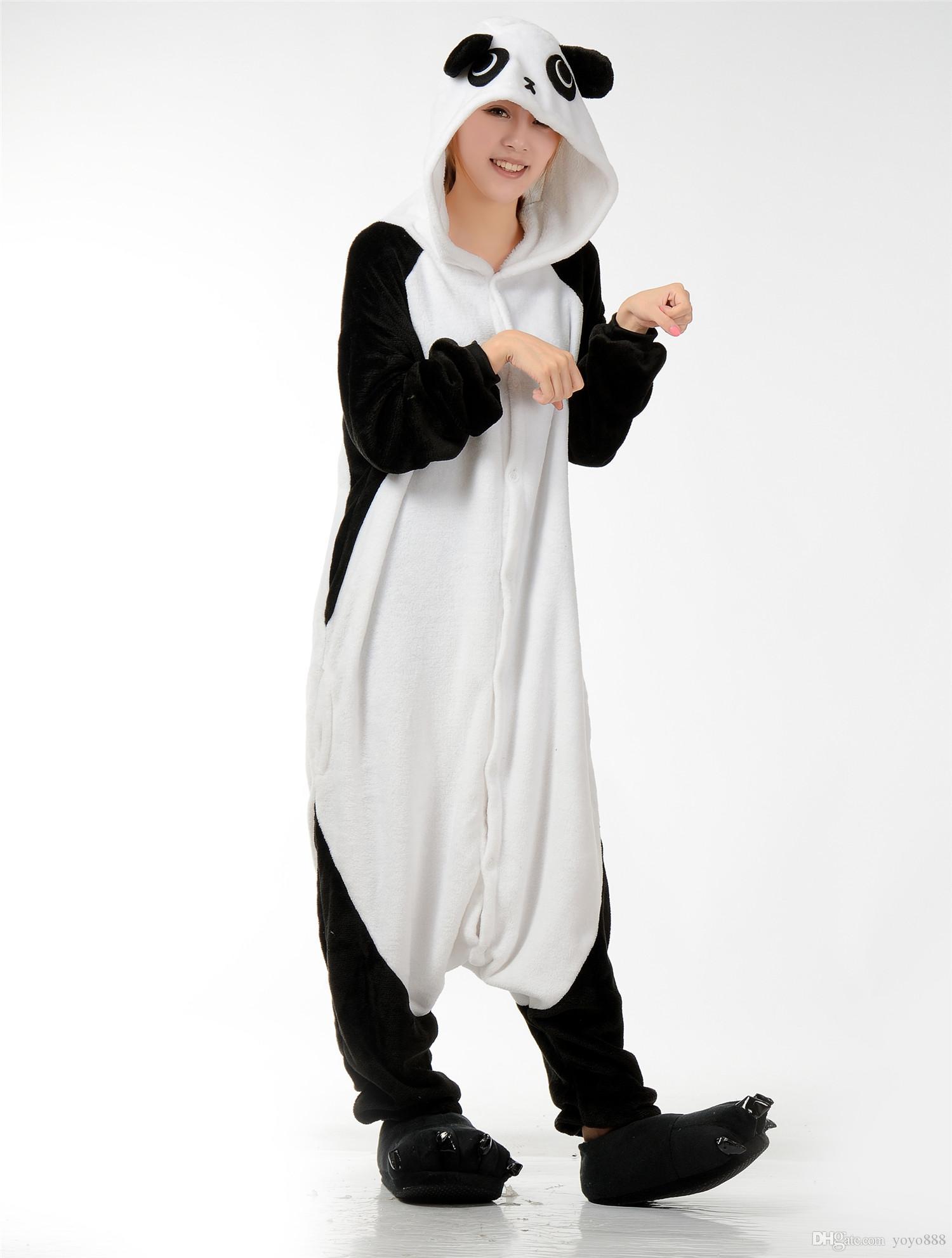 più foto bb7ee 5e710 Acquista Womens Mens Unisex Panda Tuta Onesie Pigiama Costumi Cosplay R366  S XL A $27.41 Dal Yoyo888   DHgate.Com