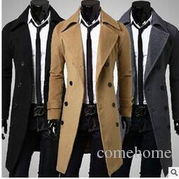 774d4a2f711 2019 Hot Sale Plus Size Men Trench Coat 2015 New Brand Winter Mens Long Pea  Coat Men Wool Coat Turn Down Collar Double Breasted Men Trench Coat From ...