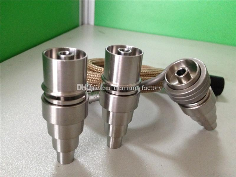 10/14/18mm male&female adjustable Grade 2 Titanium Domeless Nail for 16mm or 20mm Coil