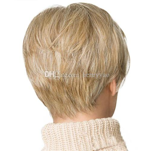 Cheap Short Wig Bob Straight Synthetic Hair Blonde Wigs for Women Synthetic Wig Side Bang Wig