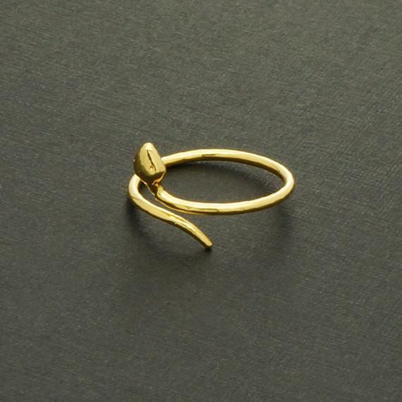 الأزياء 18 كيلو الذهب مطلي خواتم صغيرة الأفعى خواتم للبنات هدايا عالية الجودة مزيج لون خواتم