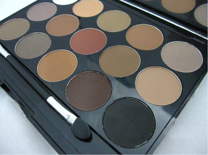 Earth Tone Eyeshadow Palette Nude/Naked Makeup kit matte eye shadow Shimmer eyeshadows with Sponge makeup brush