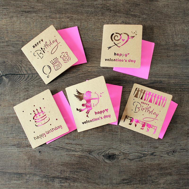 Großhandel 2015 Romantischer Geburtstag Karten Kraftpapier Frohe ...