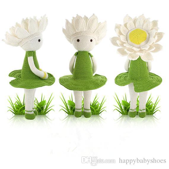Großhandel Häkeln Amigurumi Stofftier Baby Spielzeug Puppe Rassel