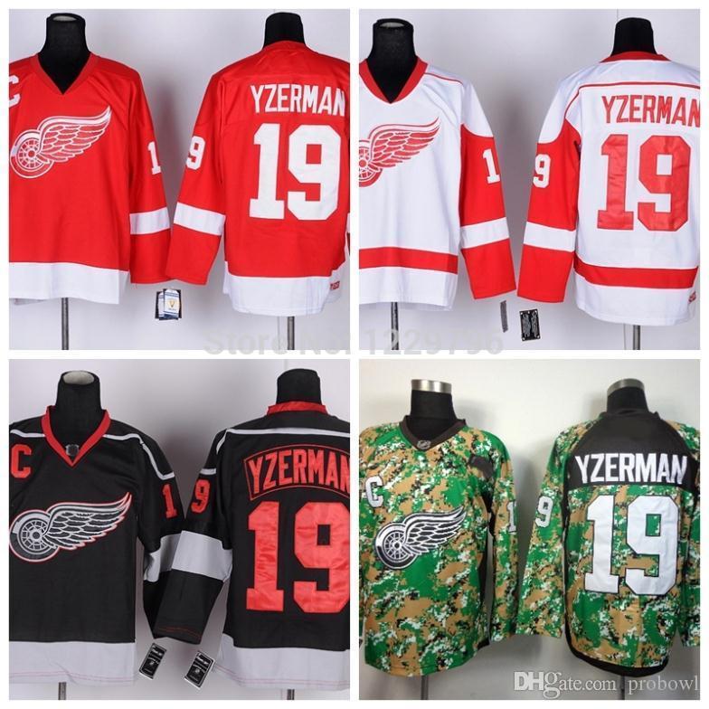 ... mens steve yzerman authentic black ice nhl jersey 8c8af 5a748 50% off  2018 detroit yzerman hockey jerseys 19 steve yzerman jersey ccm vintage red  turn ... 070e2439f