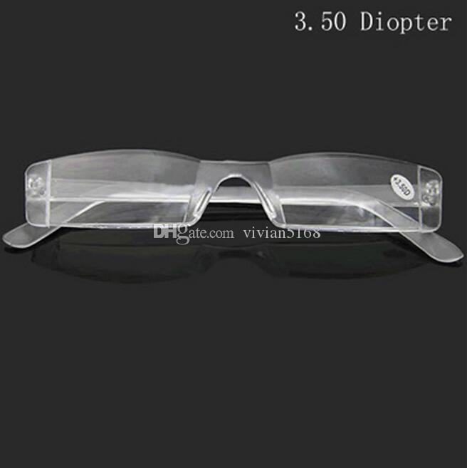 Cheap Reading Glasses Slim Plastic Tube Reading Eyeglasses Plastic Case With PC Tube Case Clip For Olders +1.0 +1.5 +2.0 +2.5 +3.0 +3.5 +4.0