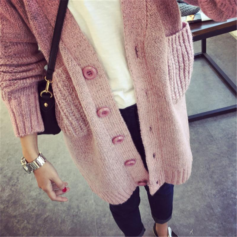 2018 Long Cardigan Women 2015 Fashion New Womens Warm Sweaters For ...
