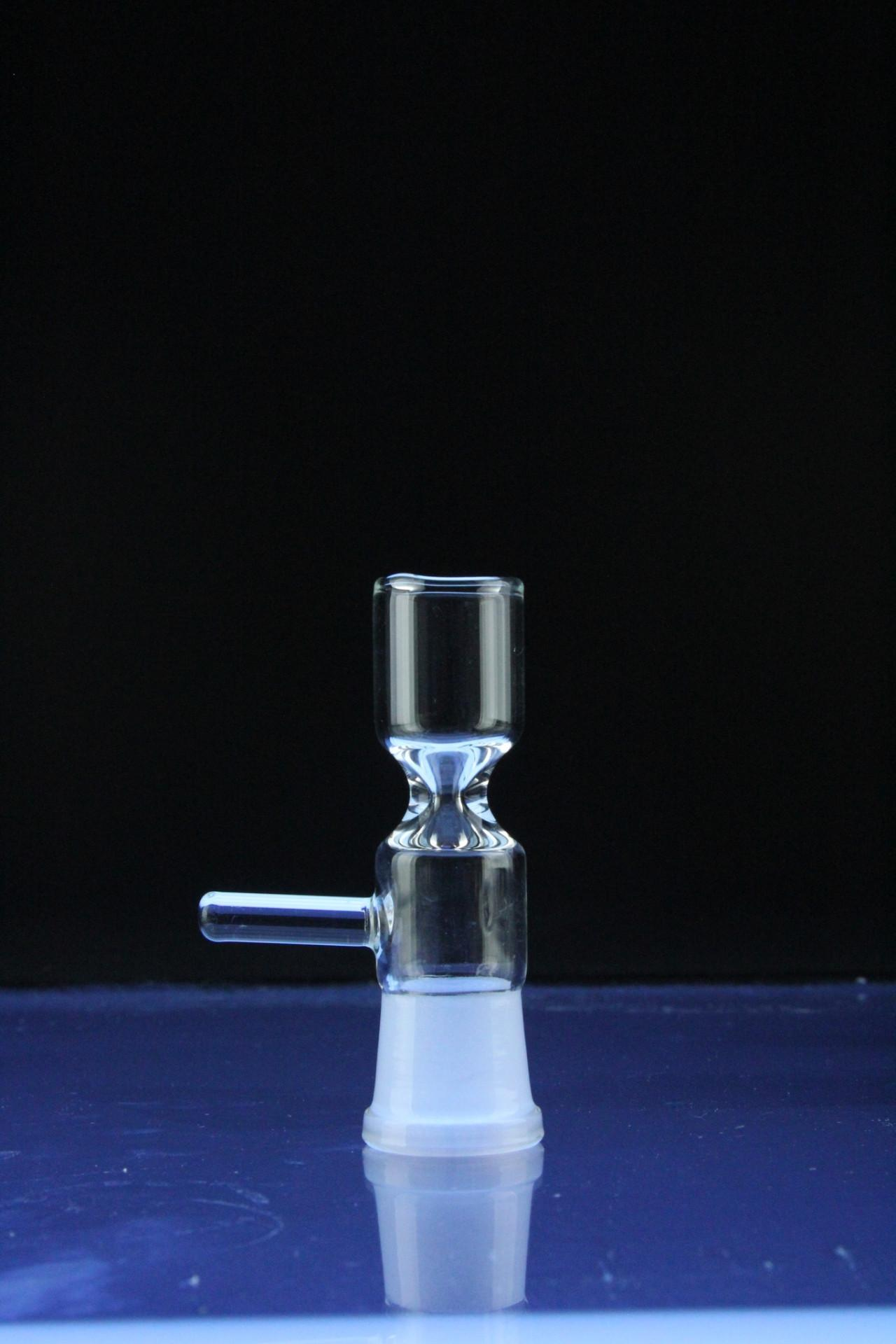 Super 14mm 19mm Female Glass Pinch Bowl Reversible bowl with Handle 14.5mm 18.8mm Joint Size for Glass Bong Ashcatcher Glass Bowl