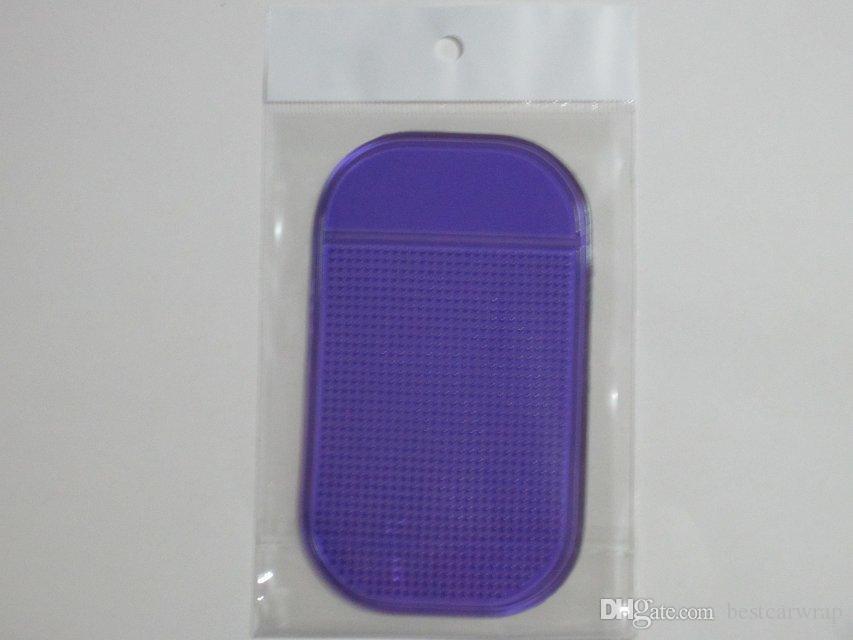 أسود مثبت مكافحة زلة حصيرة غير زلة لوحة سيارة ماجيك مثبت الوسادات حصيرة ل mp3 mp4 الهاتف عصا 1200 قطع 7 الألوان المتاحة مع حزمة
