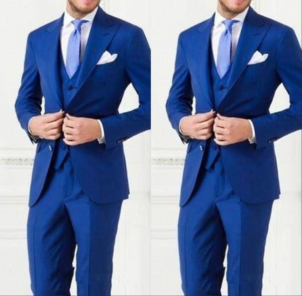 2017-2018 Cheap Custom Made Men Suit Bestmen Groom Tuxedos Formal Suits Business Men WearJacket+Pants+Tie+Vest New Arrival