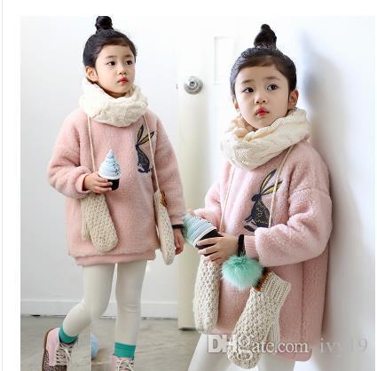 faff7625a23 2018 New Style Hot Sale Korean Children Hat Autumn And Winter Girls  Princess Baseball Cap Baby Child Rabbit Ear Autumn Tide Peaked Cap Winter  Coats For ...