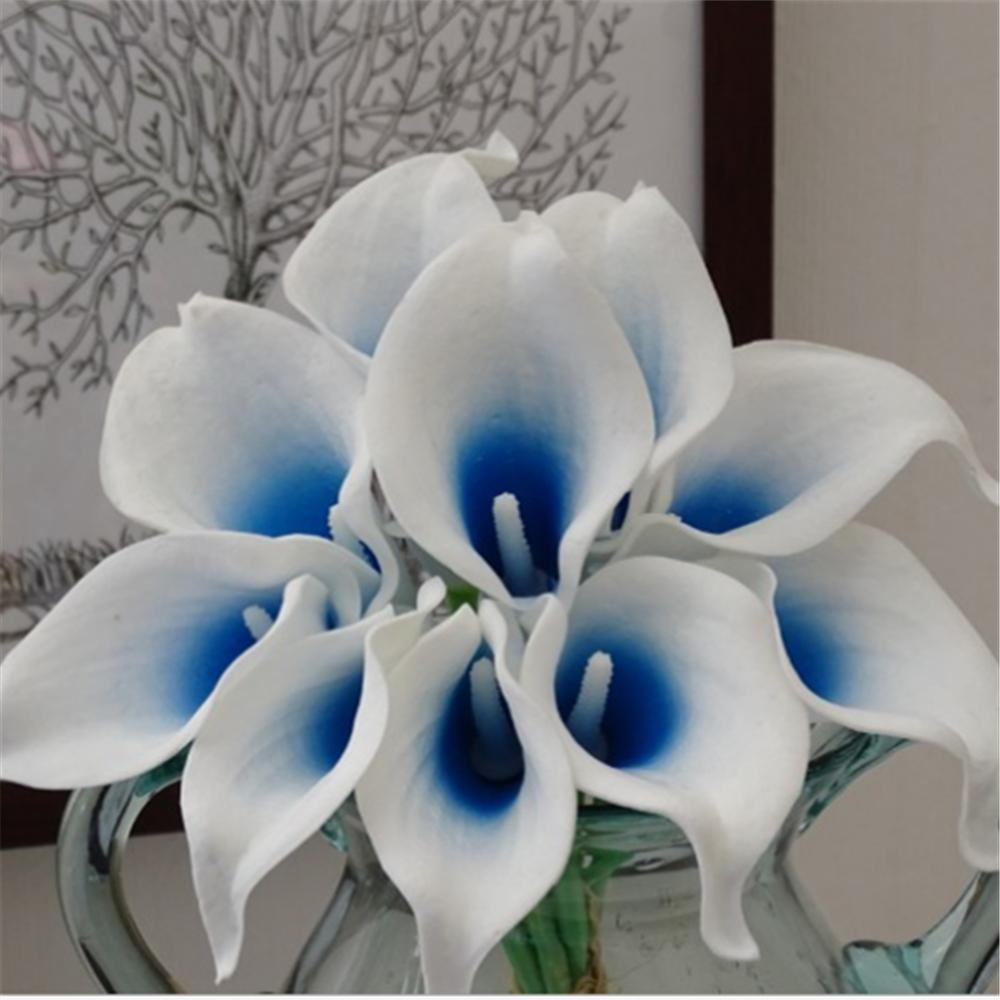 2018 real touch picasso blue calla lilies bouquet blue heart calla 2018 real touch picasso blue calla lilies bouquet blue heart calla lily for bridal bouquets wedding decoration from home1688 2538 dhgate izmirmasajfo