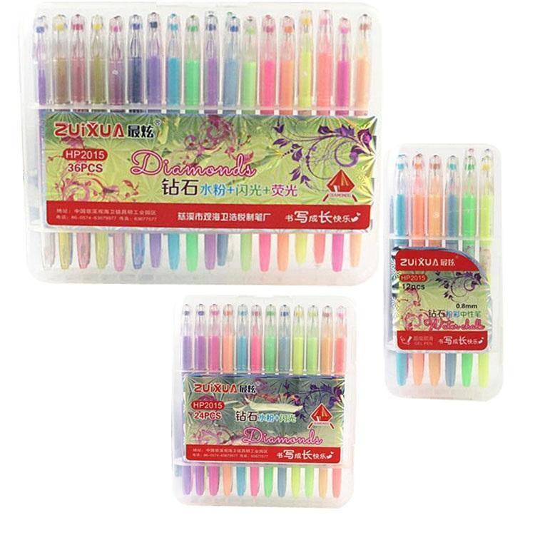 2018 Prettybaby Secret Garden Gel Pen Neon Water Chalk Pens