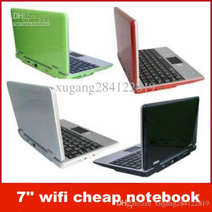 7 Wifi Cheap Notebook NEW Mini Netbook Laptop WIFI Windows 2GB HD Online With 7104 Piece On Xugang284122819s Store