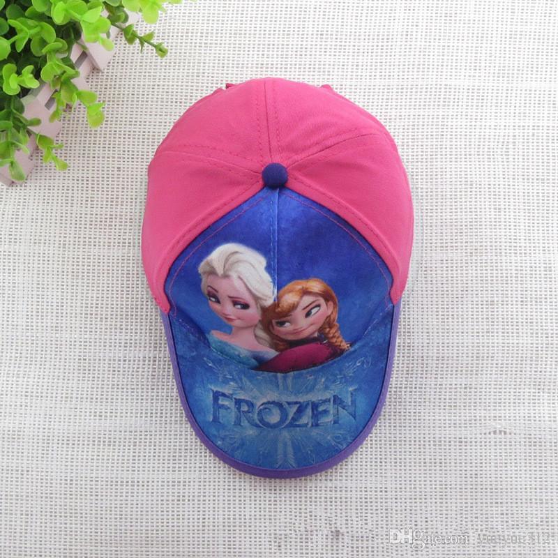 nuovo cappello da baseball bambina cappello da baseball bambini cappello da spiaggia ragazza rosa rosso cartone animato in cotone rosso 0010