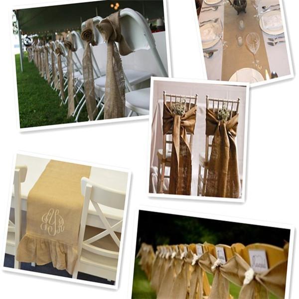 جديد وصول 300x6 سنتيمتر خمر الجوت الخيش هسه الطبيعية الشريط ريفي حفلات الزفاف حزام حزام زهور 300 سنتيمتر طويلة