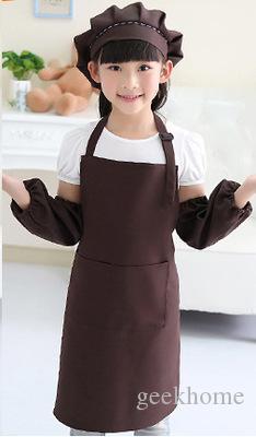أطفال مآزر جيب الحرفية الطبخ الخبز فن الرسم أطفال مطبخ الطعام المريله مآزر الأطفال مآزر الأطفال 10 ألوان شحن مجاني