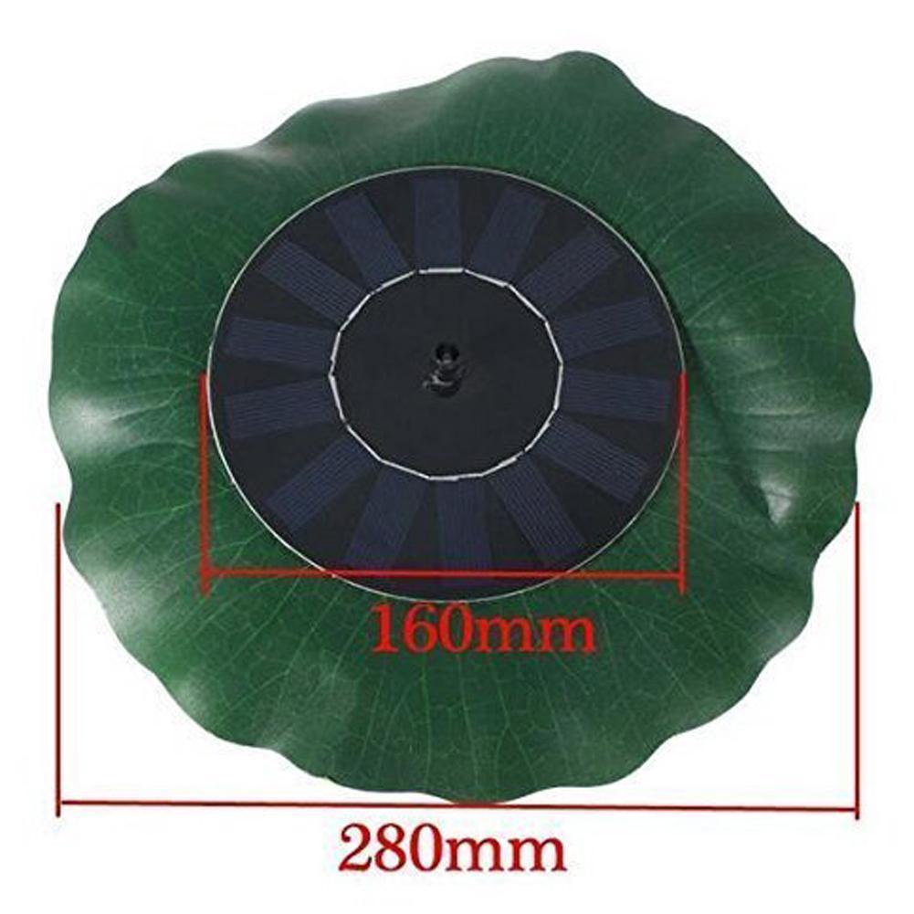 Garten-Brunnen-Simulation im Freien Lotus-Blatt-Suspendierungs-Solarwasser-Sprink 200L / H DC-Wasser-Pumpen-Solar-Teich-Brunnen 7V 1.4W