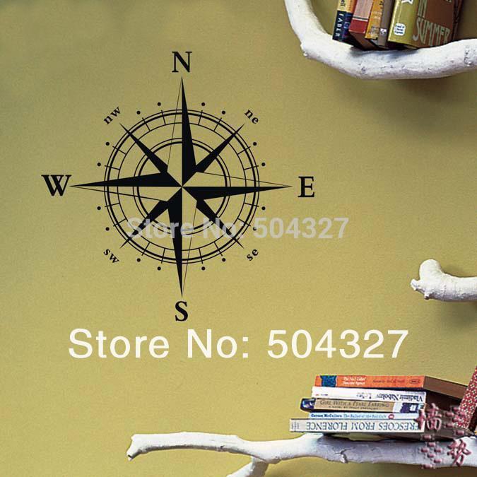 Nautical Compass Wall Decal Nautical Compass Wall Sticker 60*60 Cm ...