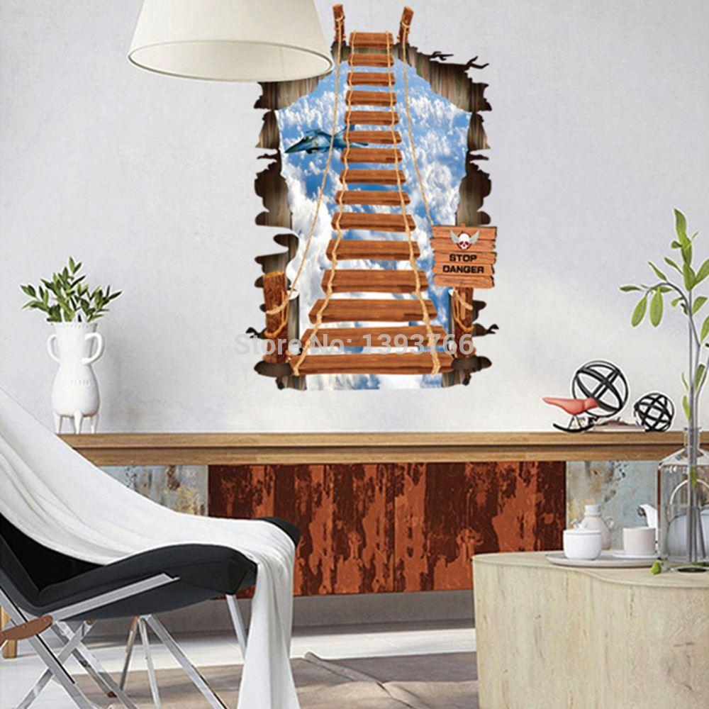 Stair to the sky 3d wall stickers mural childrens bedroom stair to the sky 3d wall stickers mural childrens bedroom wallpaper wall decal for kids room home decor discount wall stickers dragon wall decals from amipublicfo Gallery
