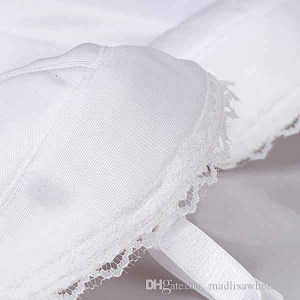 White Wedding Bridal Crop Corset Tops Slim Waist Trainer 2017 Shapers Bustiers Waist Training Burlesque Sexy Lingerie 0862