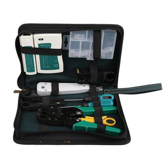 Other Network i11 in 1 Professional Network Computer Maintenance Repair Tool Kit Toolbox Stripping Cable / Make Ethernet Connector Test Net