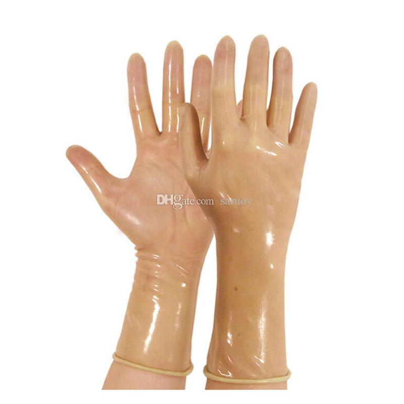 2017 classic Latex Gothic Sexy Lingerie Women Short crimping Gloves Crimping Side Fetish Wrist No Fingers Female
