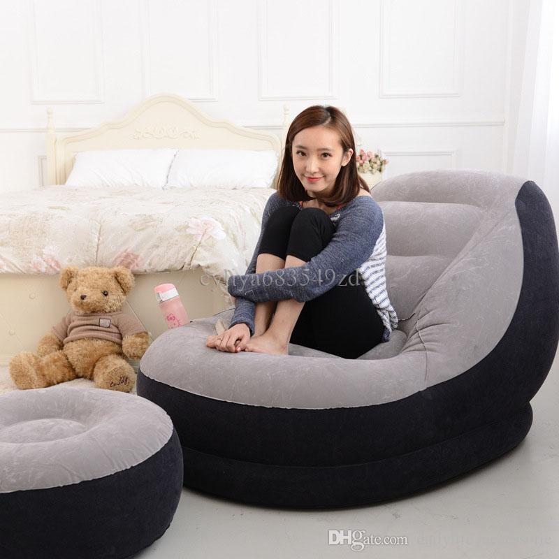 Awe Inspiring 2019 Sofa Set Living Room Furniture Inflatable Chair With Ottoman Relax Foot Stool Seat Creative Furniture Flocking Sofa Lazy Boy Sofa From Alphanode Cool Chair Designs And Ideas Alphanodeonline