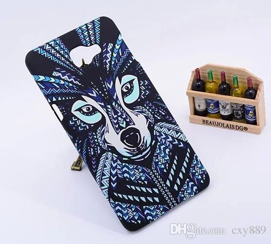 Painted king Luminous Aztec Jungle Animal Lion Tiger wolf Glow Cases for Samsung Galaxy A9 Elephant Matte Covers