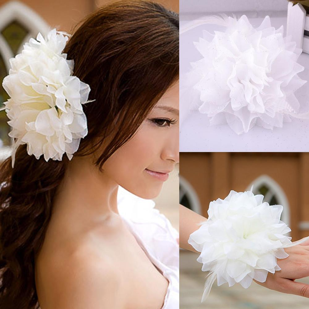 2015 wedding hair flowers white color hand made flowers bridal 2015 wedding hair flowers white color hand made flowers bridal flowers wedding accessories bridal hairs flowers hair flowers 2016 wedding accessories bridal izmirmasajfo