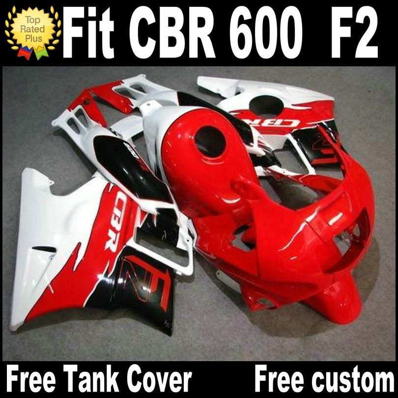 Motorcycle fairings for HONDA CBR 600 1991 1992 1993 1994 F2 CBR600 91 - 94 red black white plastic fairing kit RP23